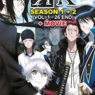 DVD ANIME K The Animation K Project Season 1-2 + Movie Complete Set English Sub