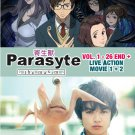 DVD Parasyte The Maxim Vol.1-26End Anime + Live Action Movie 1-2 English Sub