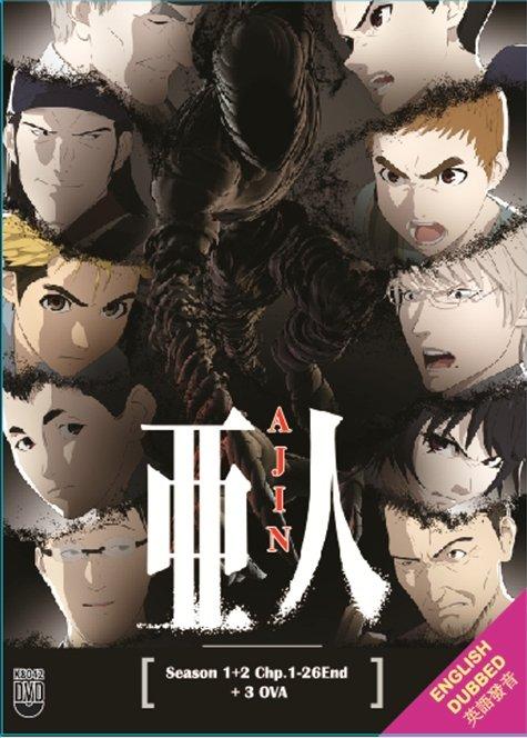 DVD ANIME Ajin Demi-Human Season 1-2 TV Series English Dub + 3 OVA English Sub