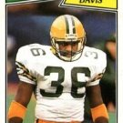 1987 Topps #352 Kenneth Davis Green Bay Packers RC