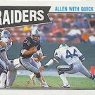 1987 Topps #213 Marcus Allen Los Angeles Raiders Team Leaders