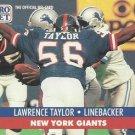 1991 Pro Set #602 Lawrence Taylor New York Giants