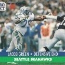 1991 Pro Set #661 Jacob Green Seattle Seahawks