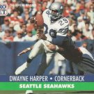 1991 Pro Set #662 Dwayne Harper Seattle Seahawks