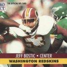 1991 Pro Set #676 Jeff Bostic Washington Redskins