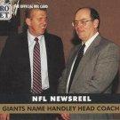 1991 Pro Set #685 Ray Handley New York Giants Newsreel
