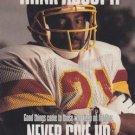 1991 Pro Set #722 Earnest Byner Washington Redskins Think About It