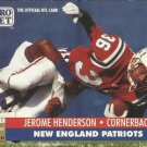 1991 Pro Set #770 Jerome Henderson New England Patriots RC