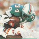 1991 Pro Set #789 Aaron Craver Miami Dolphins RC
