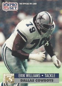 1991 Pro Set #799 Erik Williams Dallas Cowboys RC