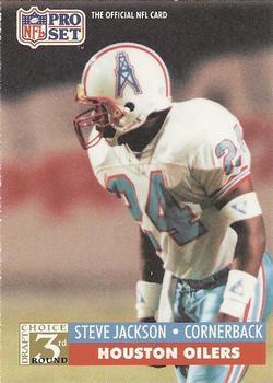 1991 Pro Set #800 Steve Jackson Houston Oilers RC