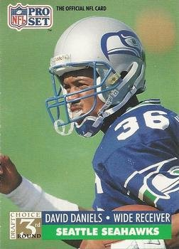 1991 Pro Set #803 David Daniels Seattle Seahawks RC