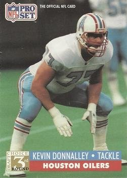 1991 Pro Set #808 Kevin Donnalley Houston Oilers RC