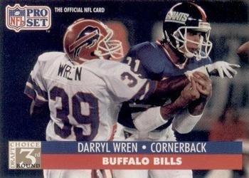 1991 Pro Set #811 Darryl Wren Buffalo Bills RC