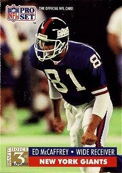 1991 Pro Set #812 Ed McCaffrey New York Giants RC