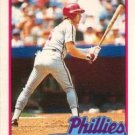 1989 Topps Traded #27T Len Dykstra Philadelphia Phillies