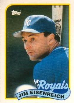 1989 Topps Traded #28T Jim Eisenreich Kansas City Royals