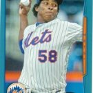 2014 Topps #591 Jenrry Mejia New York Mets Blue Parallel
