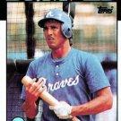 1986 Topps #698 Brad Komminsk Atlanta Braves