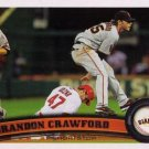 2011 Topps Update #US-234 Brandon Crawford San Francisco Giants RC