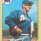 1987 Topps #593 Chuck Tanner Atlanta Braves