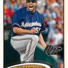 2012 Topps #499 Francisco Rodriguez Milwaukee Brewers