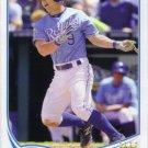 2013 Topps #493 Johnny Giavotella Kansas City Royals