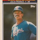 1990 K-Mart Superstars #18 Julio Franco Texas Rangers