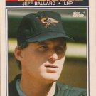 1990 K-Mart Superstars #27 Jeff Ballard Baltimore Orioles