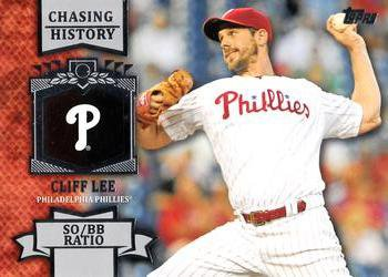 2013 Topps #CH-81 Cliff Lee Philadelphia Phillies Chasing History