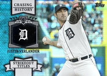 2013 Topps #CH-88 Justin Verlander Detroit Tigers Chasing History