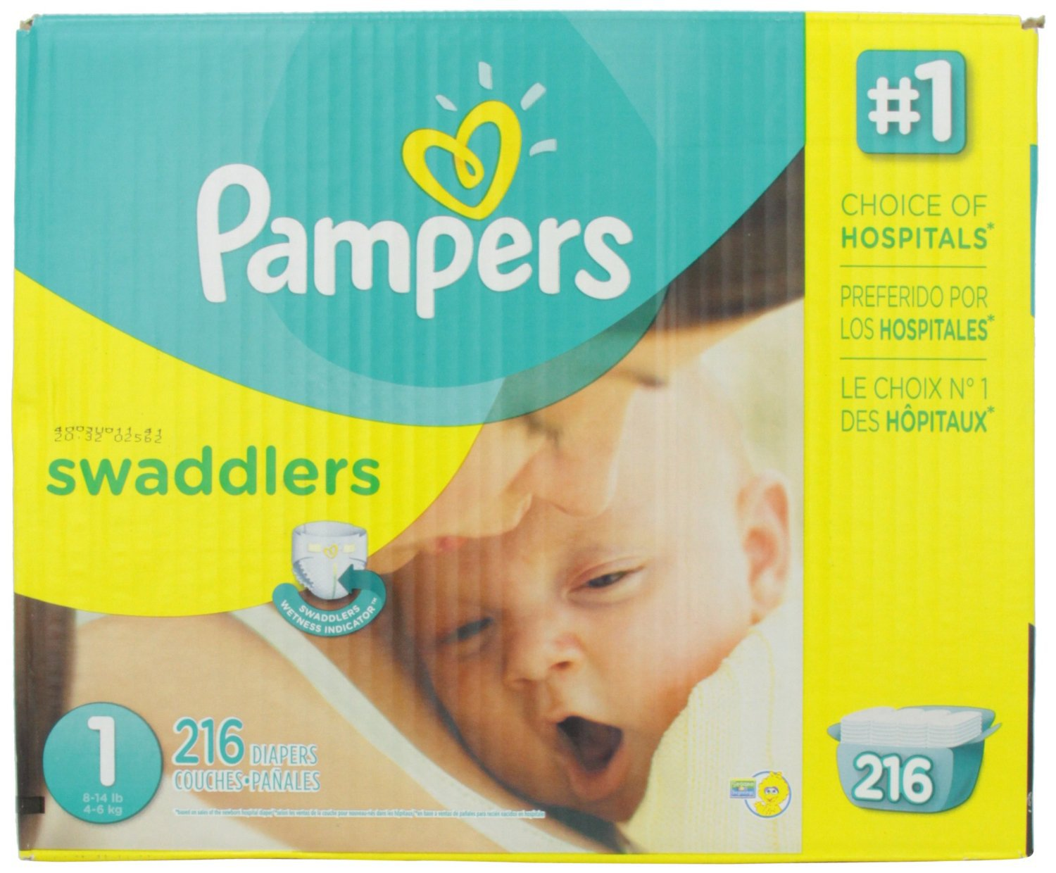 Pampers Swaddlers Diapers Size 1 - 216 Count