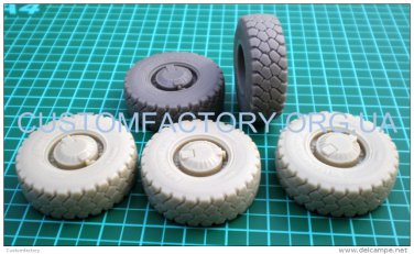 "1/35 Customfactory Wheels for armored car GAZ-2330 ""Tiger"""