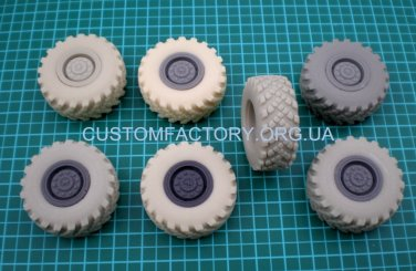 1/35 Customfactory Wheels for KAMAZ - 4310