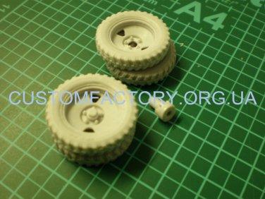 "1/35 Customfactory  Wheels for model gun BS-3 (late type ""tree"")"