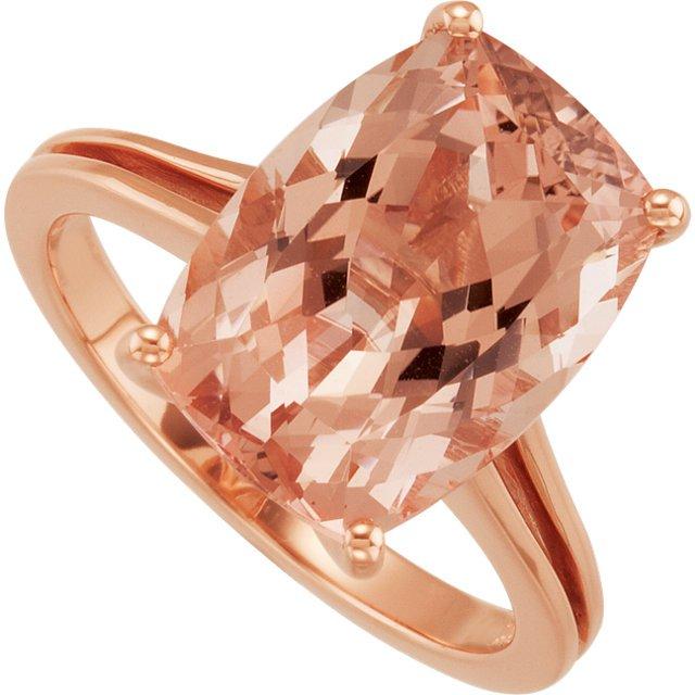 14k gold morganite engagement ring