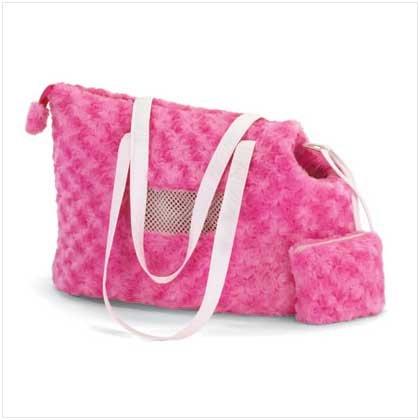 Pink Plush Pet Carrier - 37531 - Free Shipping