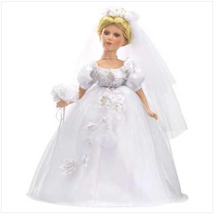 Victorian Bride Porcelain Doll - 37863