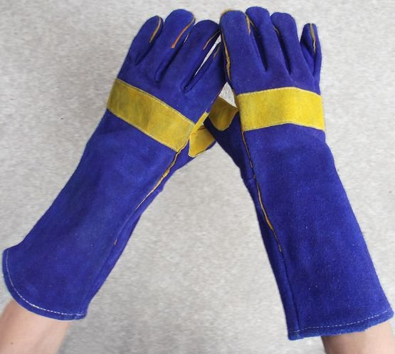 Wear-resisting thermal insulate long leather welding gloves 40cm*14cm