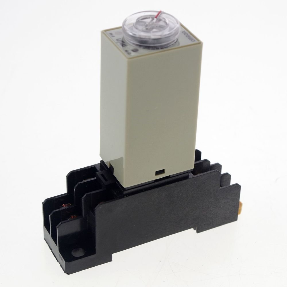 110VAC 2-60Min H3Y-2 Power On Time Delay Relay Solid-State Time DPDT 8Pin&Socket