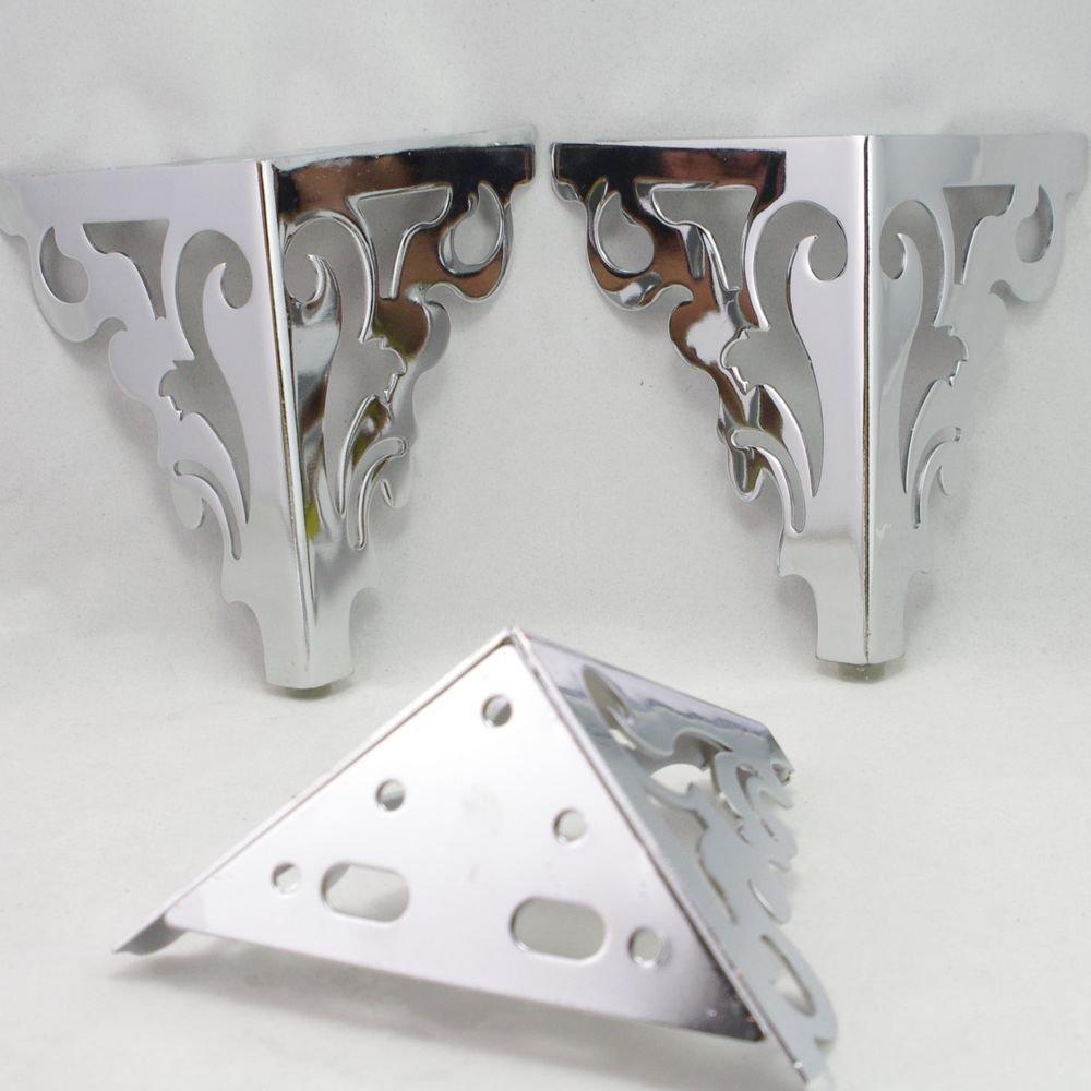 150mm Set Metal Furniture Cabinet Legs Bed Tea Table Chair  Sofa Leg Feet 4pcs
