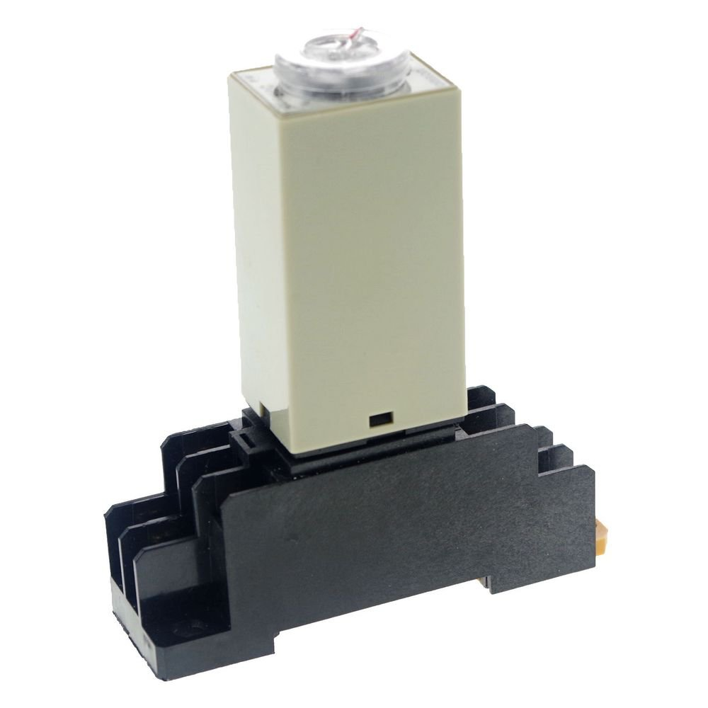 H3Y-2 Power On Time Delay Relay Solid-State Timer 2.0-60S DPDT 8Pins&Socket 220V