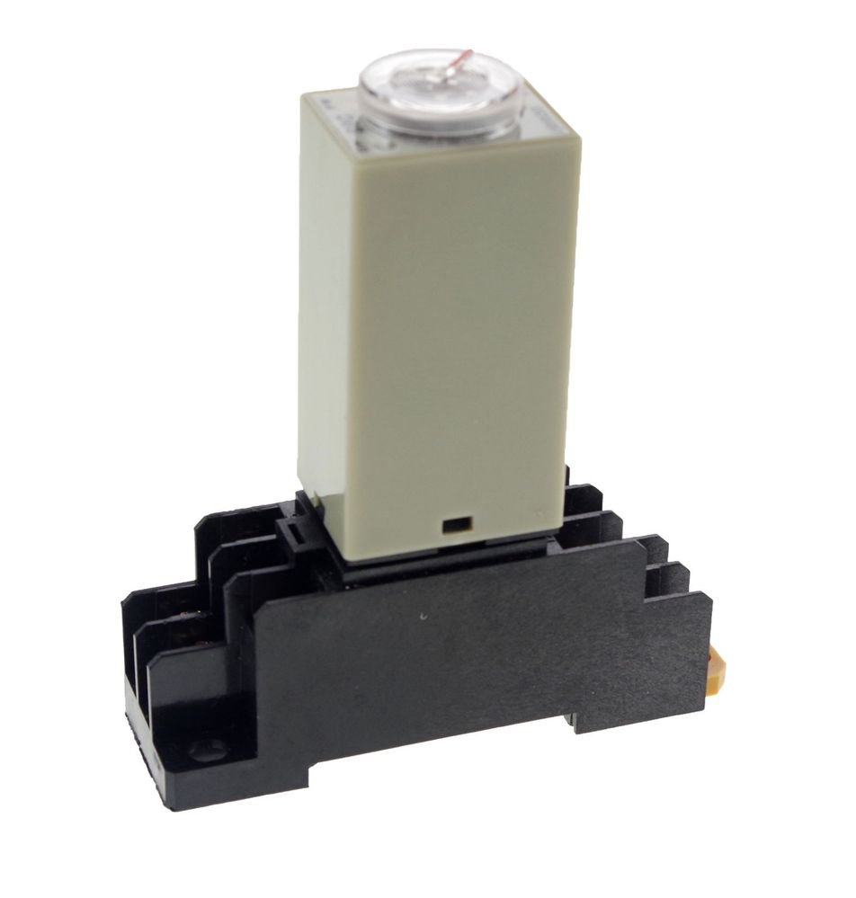 H3Y-2 Power On Time Delay Relay Solid-State Timer 0.2-5S DPDT 8Pins &Socket 220V