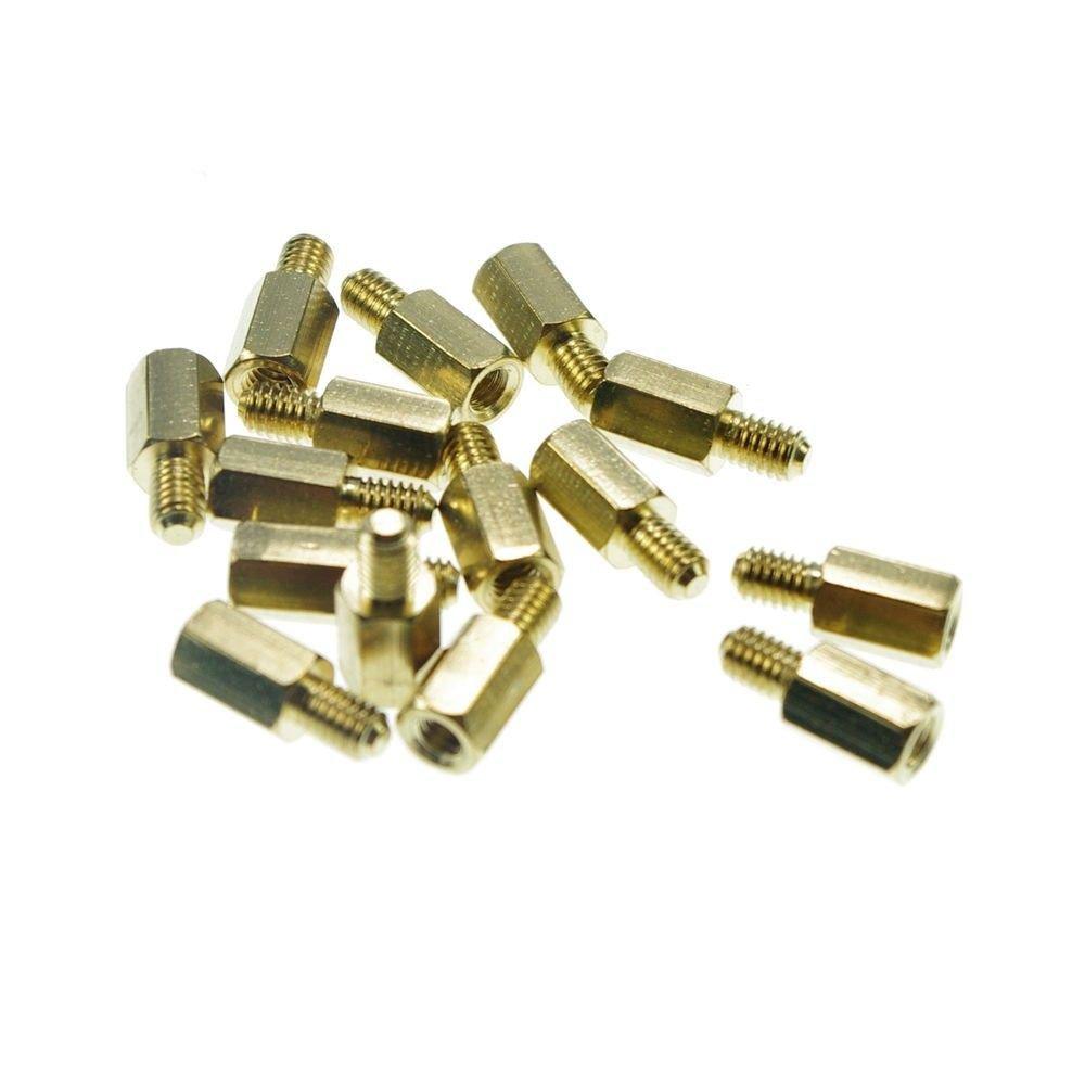 (10) M3�9+6mm  Hexagonal Threaded Brass Spacers Hexagon Copper Post