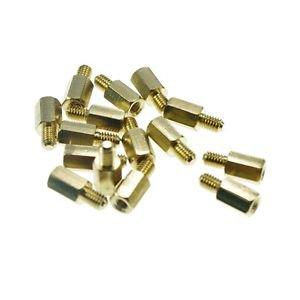(10) M3�8+6mm  Hexagonal Threaded Brass Spacers Hexagon Copper Post