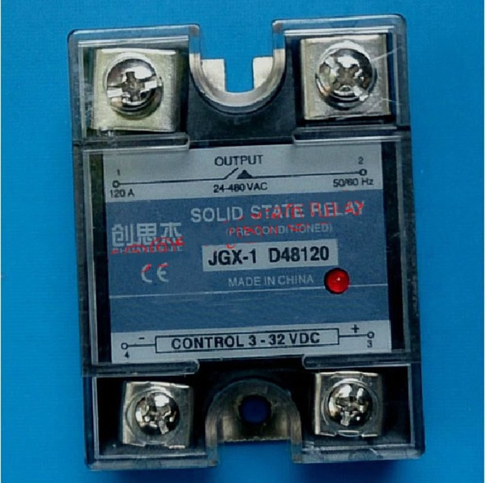 JGX-1 D48120 Single Phase Adjustable Solid State Module Relay 120A AC 24-480V