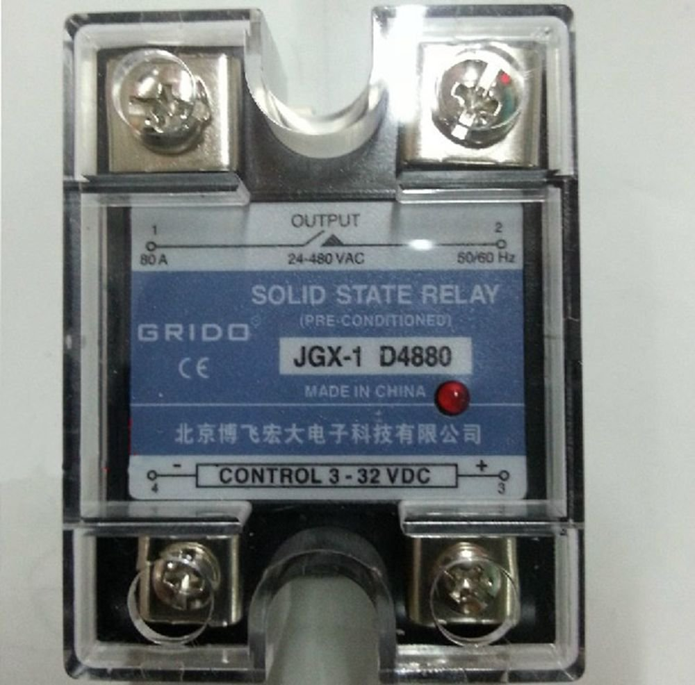 JGX-1 D4880 Single Phase Adjustable Solid State Module Relay 80A AC 24-480V