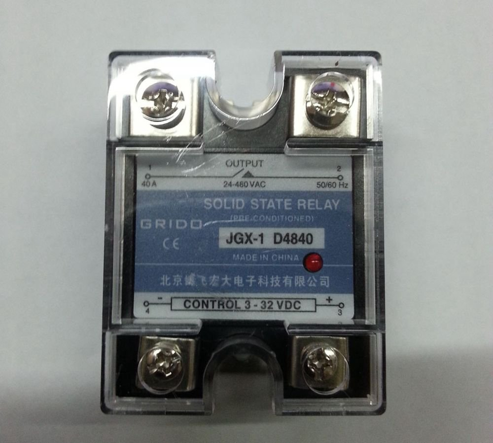 JGX-1 D4840 Single Phase Adjustable Solid State Module Relay 40A AC 24-480V