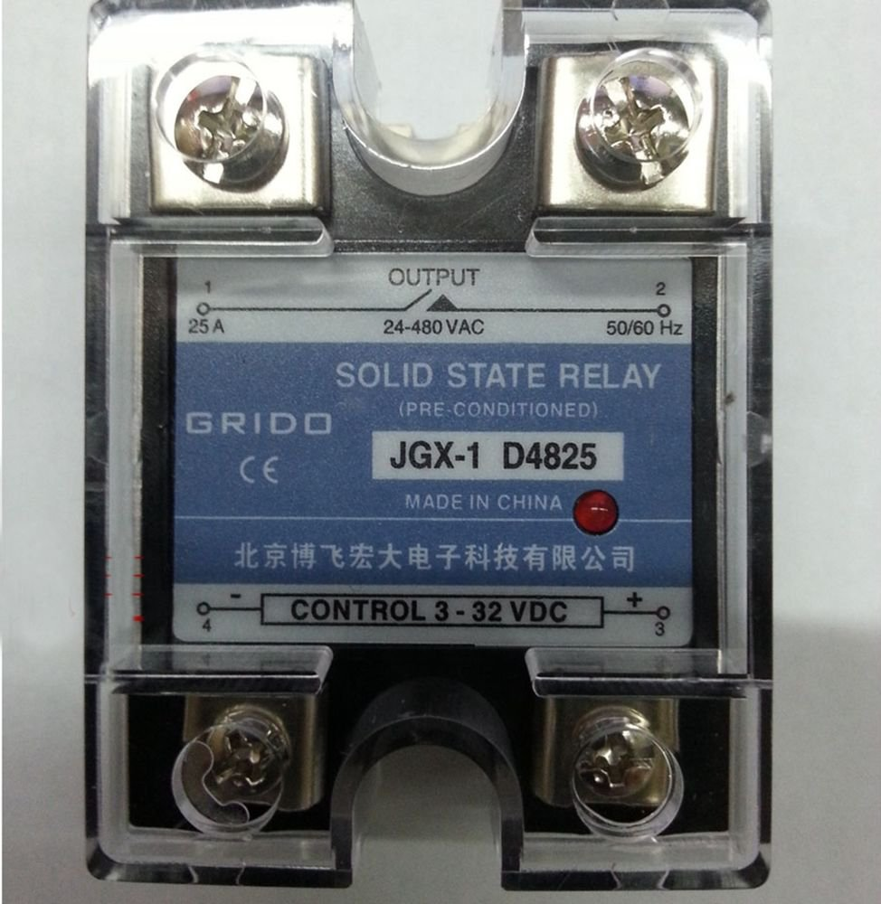 JGX-1 D4825 Single Phase Adjustable Solid State Module Relay 25A AC 24-480V