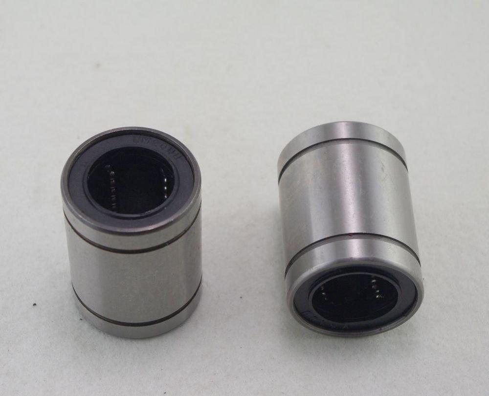 (2)25*40*59mm Standard Type CNC Linear Roller Motion Bushing Ball Bearing LM25UU
